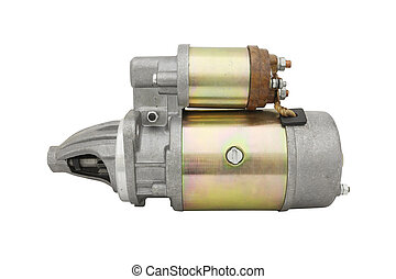 Automotive starter isolated under the white background