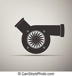 Automotive turbocharger icon.