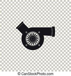 Automotive turbocharger icon isolated on transparent...