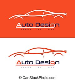 logo design with sports car