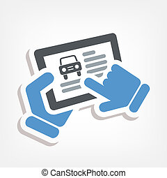 Automotive web icon