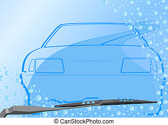 Automotive windshield and the car
