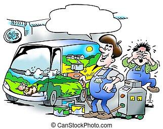 automotor, el suyo, orgullosamente, obra maestra,...