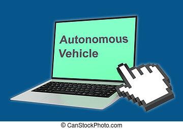 autonomo, concetto, veicolo