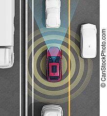 Autonomous car concept illustration