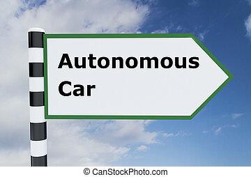Autonomous Car concept - Render illustration of Autonomous...