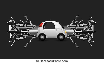 autonomous car design - autonomous car vehicle with circuit...
