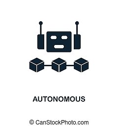 Autonomous icon. Monochrome style design from blockchain icon collection. UI and UX. Pixel perfect autonomous icon. For web design, apps, software, print usage.