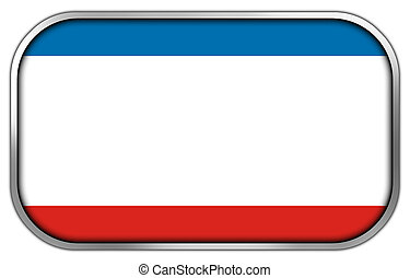 Autonomous Republic of Crimea Flag rectangle glossy button