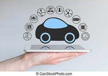 Autonomous self-driving car concept - Autonomous...