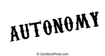 Autonomy rubber stamp. Grunge design with dust scratches. ...