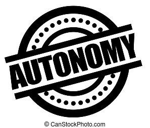 AUTONOMY sticker stamp - AUTONOMY sticker. Authentic design ...