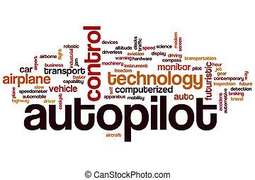 autopilot, palabra, nube