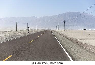 autopista de pan american, en, perú