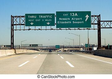 autopista de peaje, nj