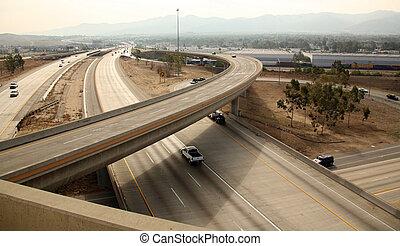 autopista, intercambio