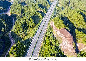 autopista, landform, danxia