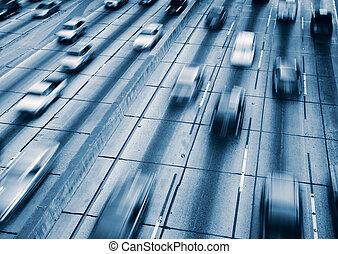 autopista, tráfico