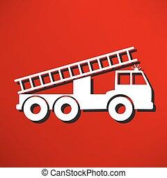autopompa antincendio, illustrazione