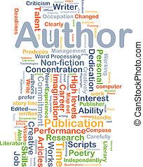 autor, plano de fondo, concepto