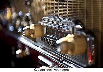 Autoradio tape recorder - Old automobile radio with small...