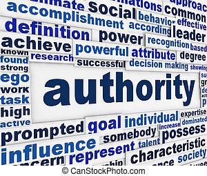 autoriteit, boodschap, achtergrond