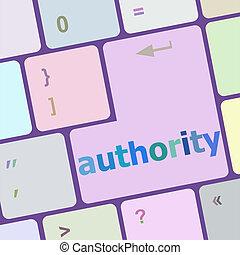 autority, bottone, chiave calcolatore, tastiera