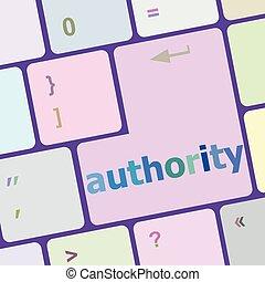 autority button on computer keyboard key vector illustration