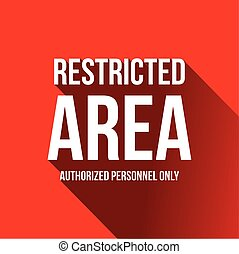 autorizado, personal, área, solamente, -, restringido