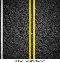 autoroute, asphaltez route, vue dessus