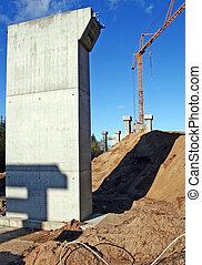 autoroute, industrie, construction, infrastructure