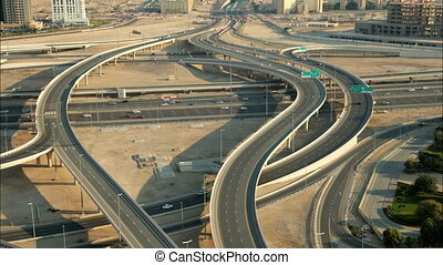 autoroute, intersection, dubai