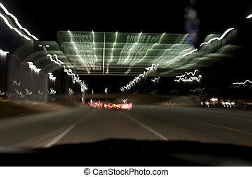 autoroute, nuit