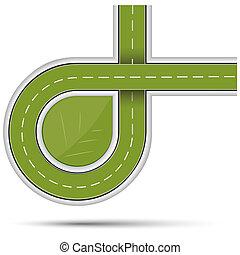 autoroute, vert