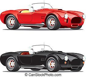 auto's, converteerbaar, vrijstaand