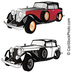 auto's, oud, twee