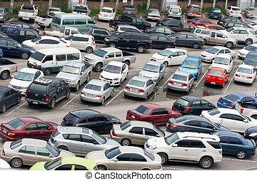 autos, park