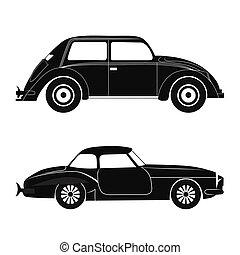 auto's, silhouette