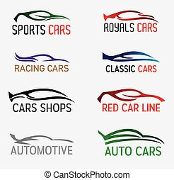 autos, silhouetten, logo