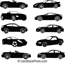 auto's, sportende