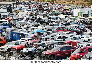 autos, trödel, altes , junkyard