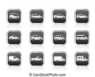 autos, verschieden, arten, heiligenbilder