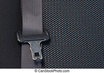 autositz, gürtel, sicherheit, concept.
