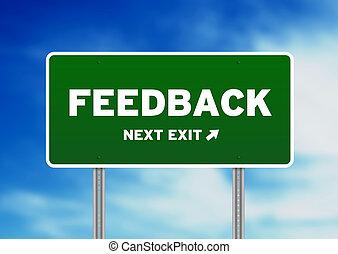 autostrada, feedback, segno