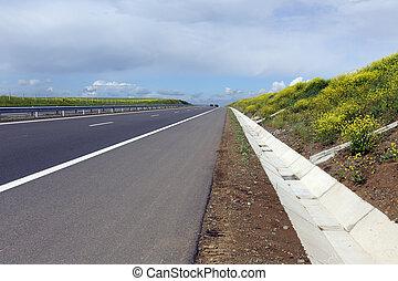 autostrada, in, primavera