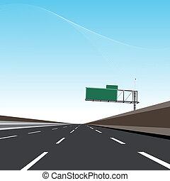 autostrada, opróżniać