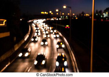 autostrada, sfocato