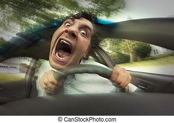 autounfälle, gesicht