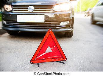 autounfall, auf, a, straße