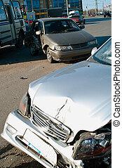 autounfall, straße